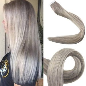 """Accessories - ✨ 22"""" 3PACK 19A fading  to #60 HUMAN HAIR TAPE INS"""